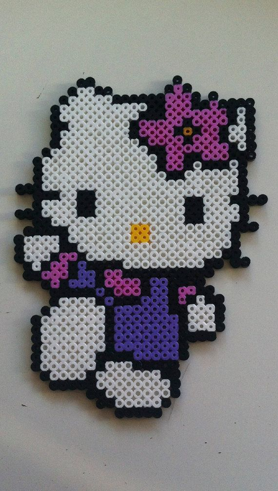 Hello Kitty hama perler beads by MadebyBlackSheep | hello kitty ...