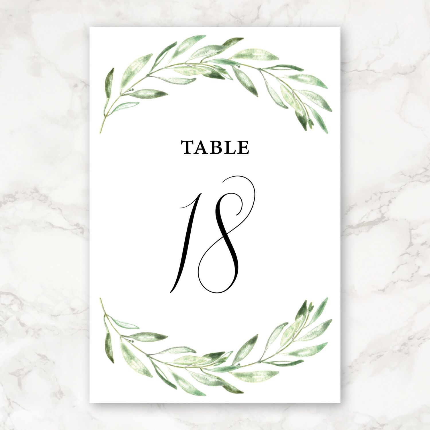 printable wedding table numbers 4x6 includes numbers 1 30