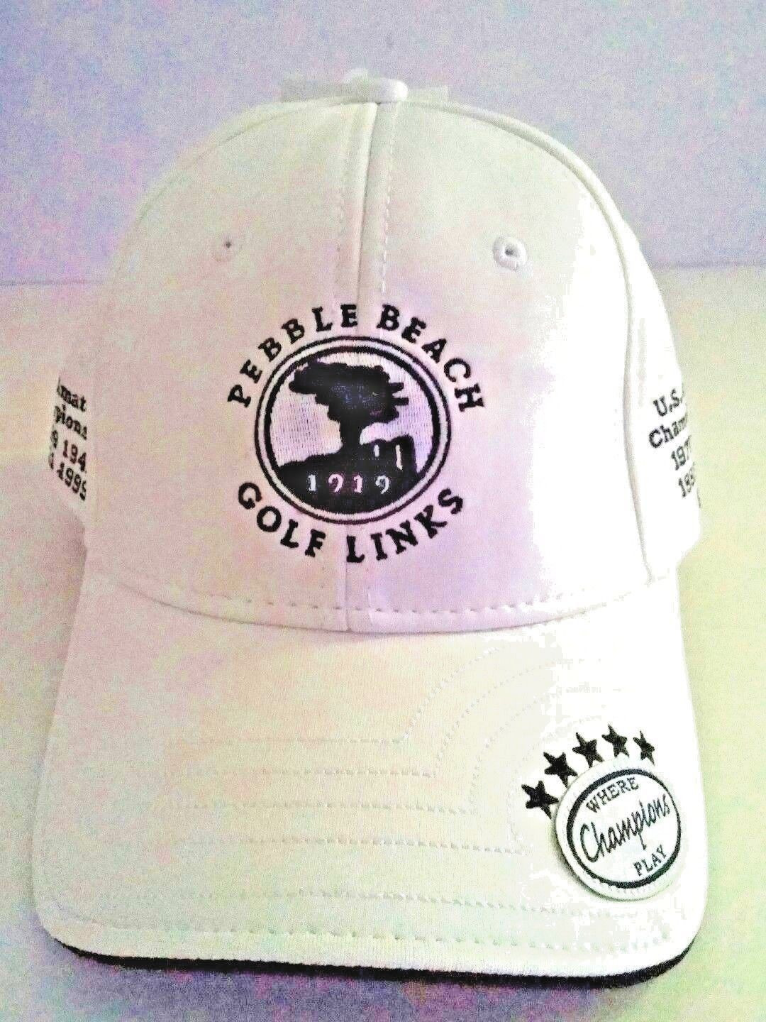 Pebble Beach Golf Links 1919 Hat Cap New Champions Collection White Ebay Link