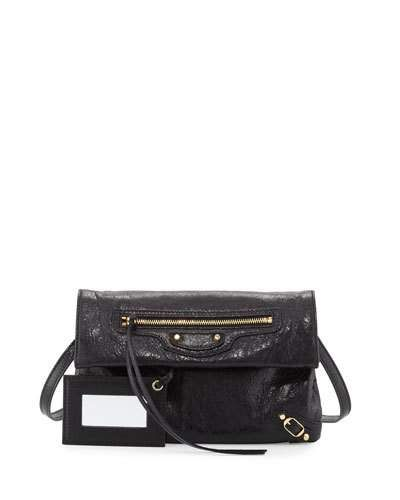 edfe904e9228 BALENCIAGA Classic Gold Mini Envelope Crossbody Bag