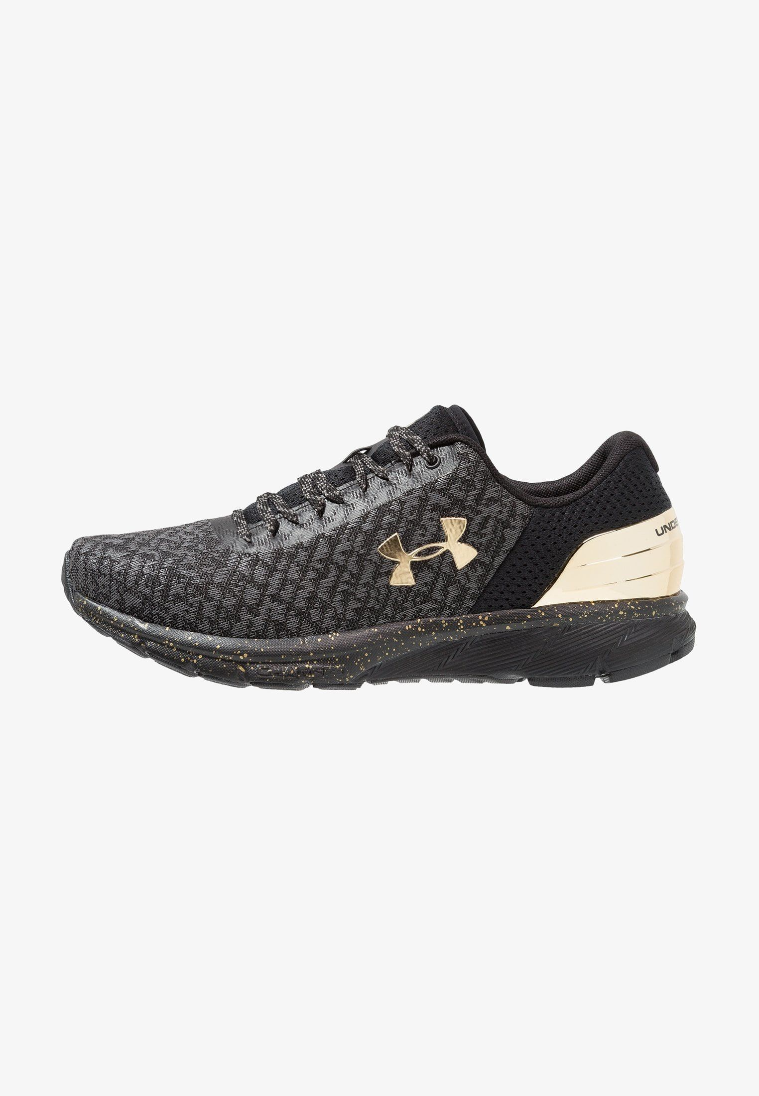 Under Armour Charged Escape 2 Chrome Obuwie Do Biegania Treningowe Black Graphite Metallic Gold Shoes Underarmor Sneaker Sneakers