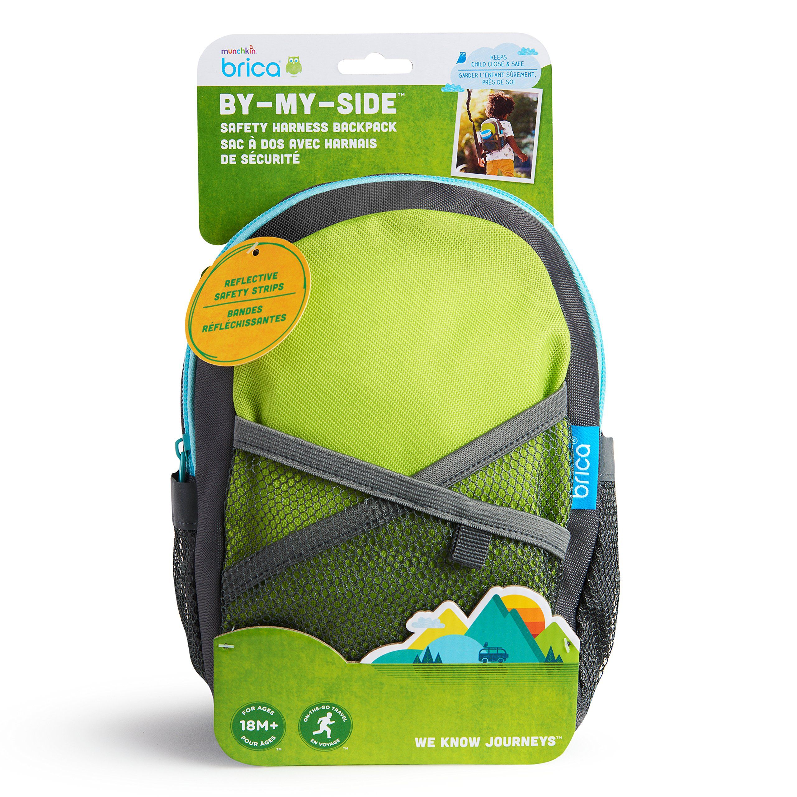 BricaByMySide Safety Harness Backpack Green/Blue See