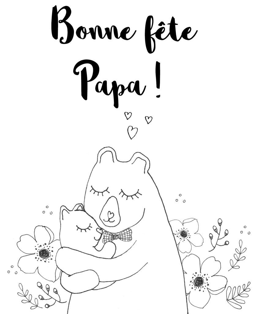 Coloriage Anti Stress Carte Avec Ecrit Papa