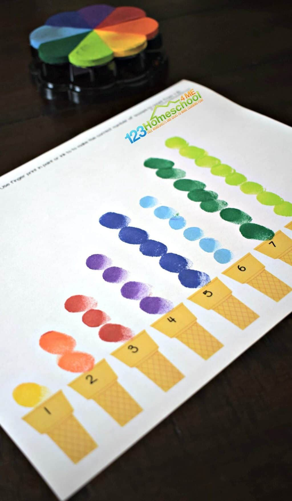 Fingerprint Counting Activity For Kids
