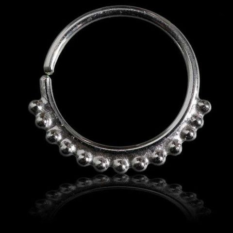 Silver Septum Decorated With Tiny Dots
