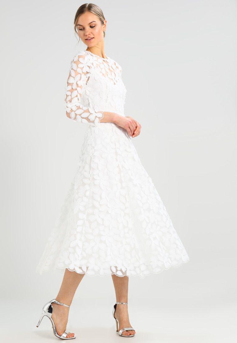 IVY & OAK BRIDAL BRIDAL EMBROIDERY DRESS - Robe de cocktail - snow