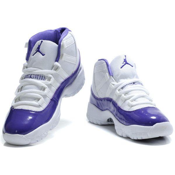 white and purple jordan 11