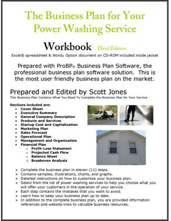 Power Washing Service Business Plan Small Business/Self Employment