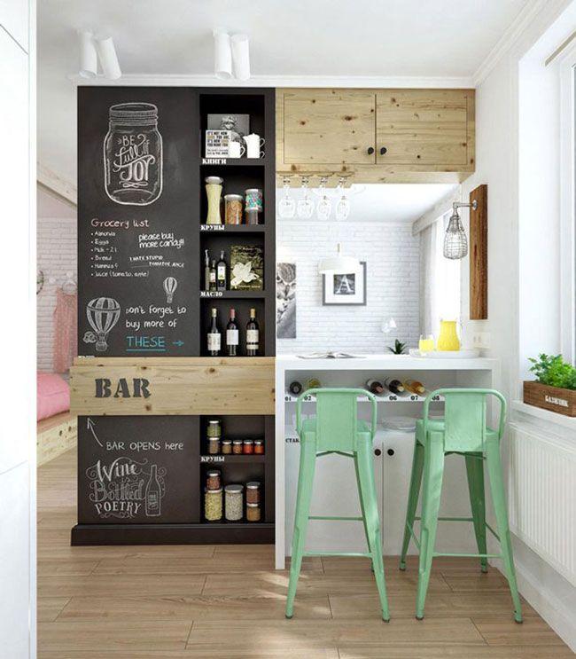 Paredes de pizarra para decorar la cocina   Kitchens, Interiors and ...
