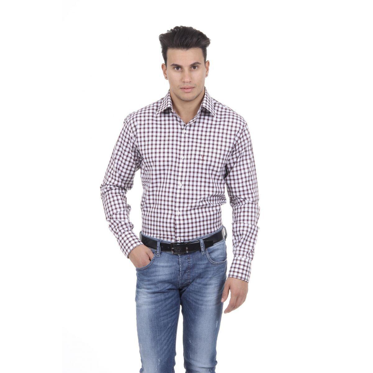 Versace 19.69 Abbigliamento Sportivo Srl Milano Italia Mens Fit Modern Classic Shirt 377 VAR. 208
