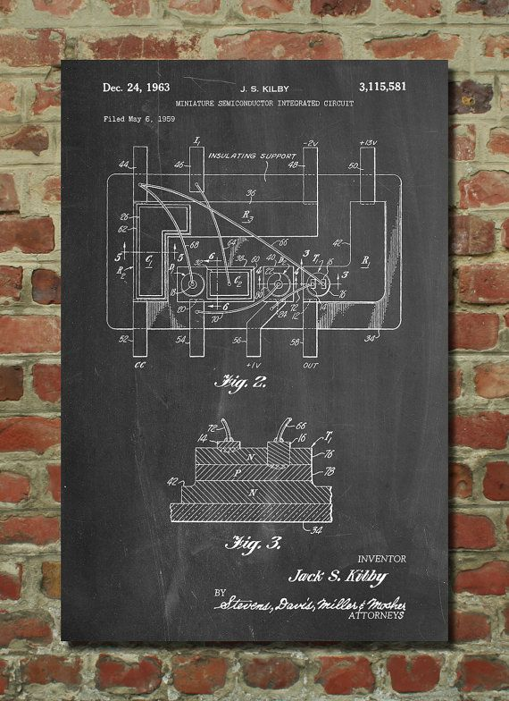 First integrated circuit patent poster technology art science first integrated circuit patent poster technology art science poster computer parts electrical engineer malvernweather Images