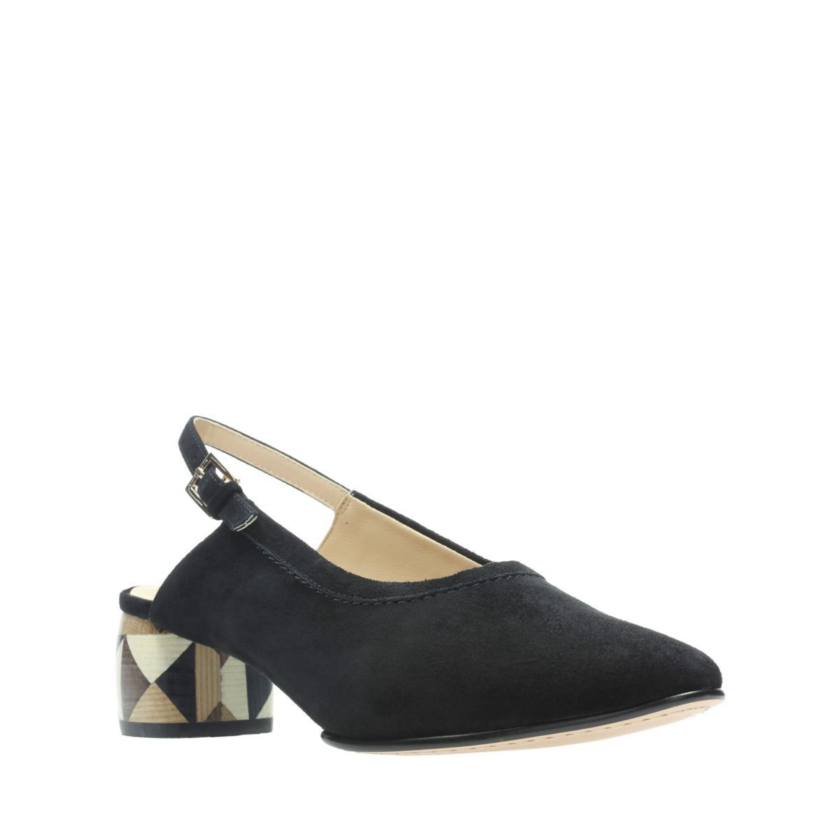 bbd869bf37ca Clarks Grace Amelia - Womens Shoes Black Suede 6.5