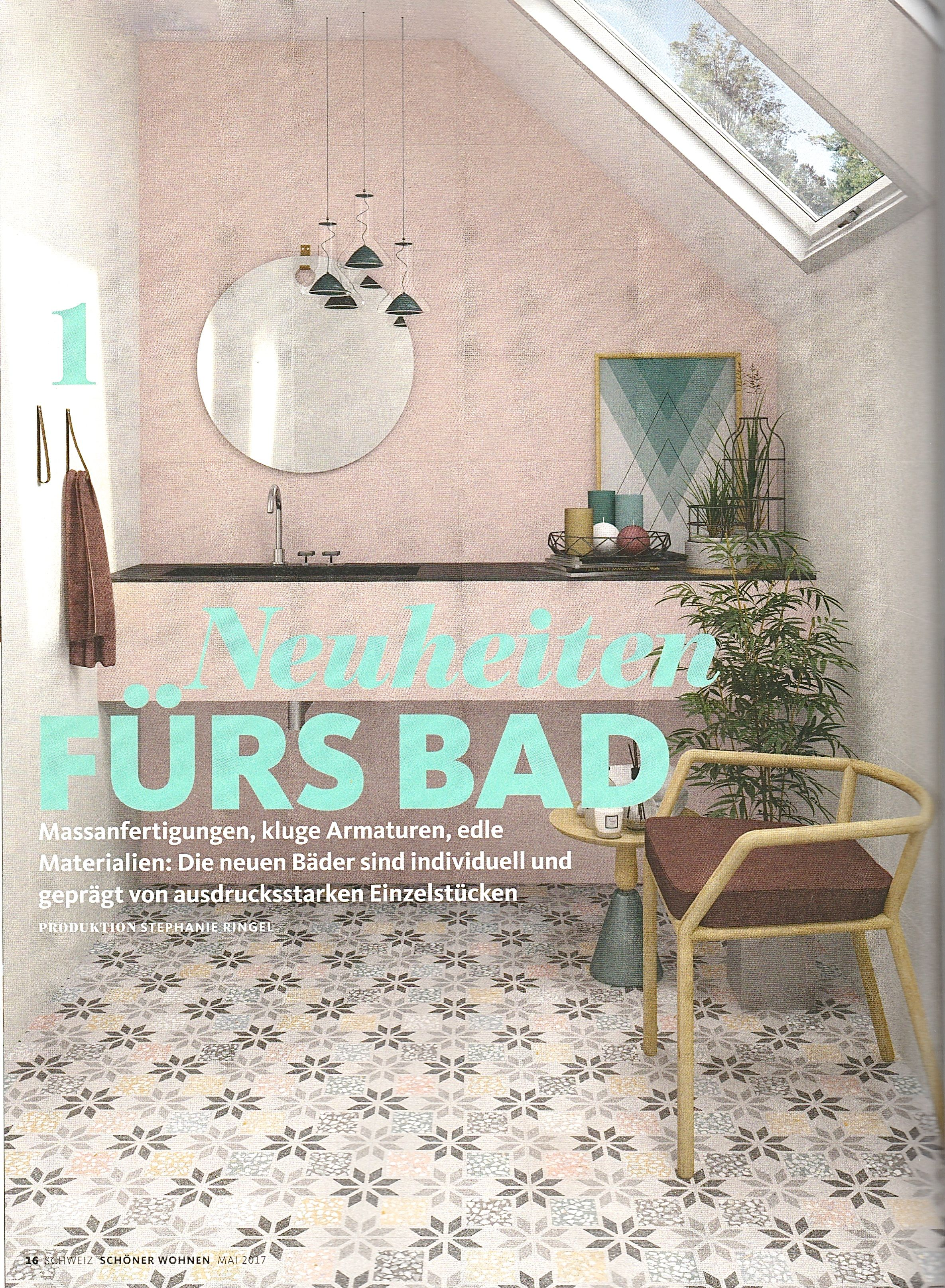 Franziska Van Rhienen Is Mentioned In The New Schoner Wohnen Swiss May 2017 Edition With This Great Terrazzo Look A Like Collection Vives Ceramica