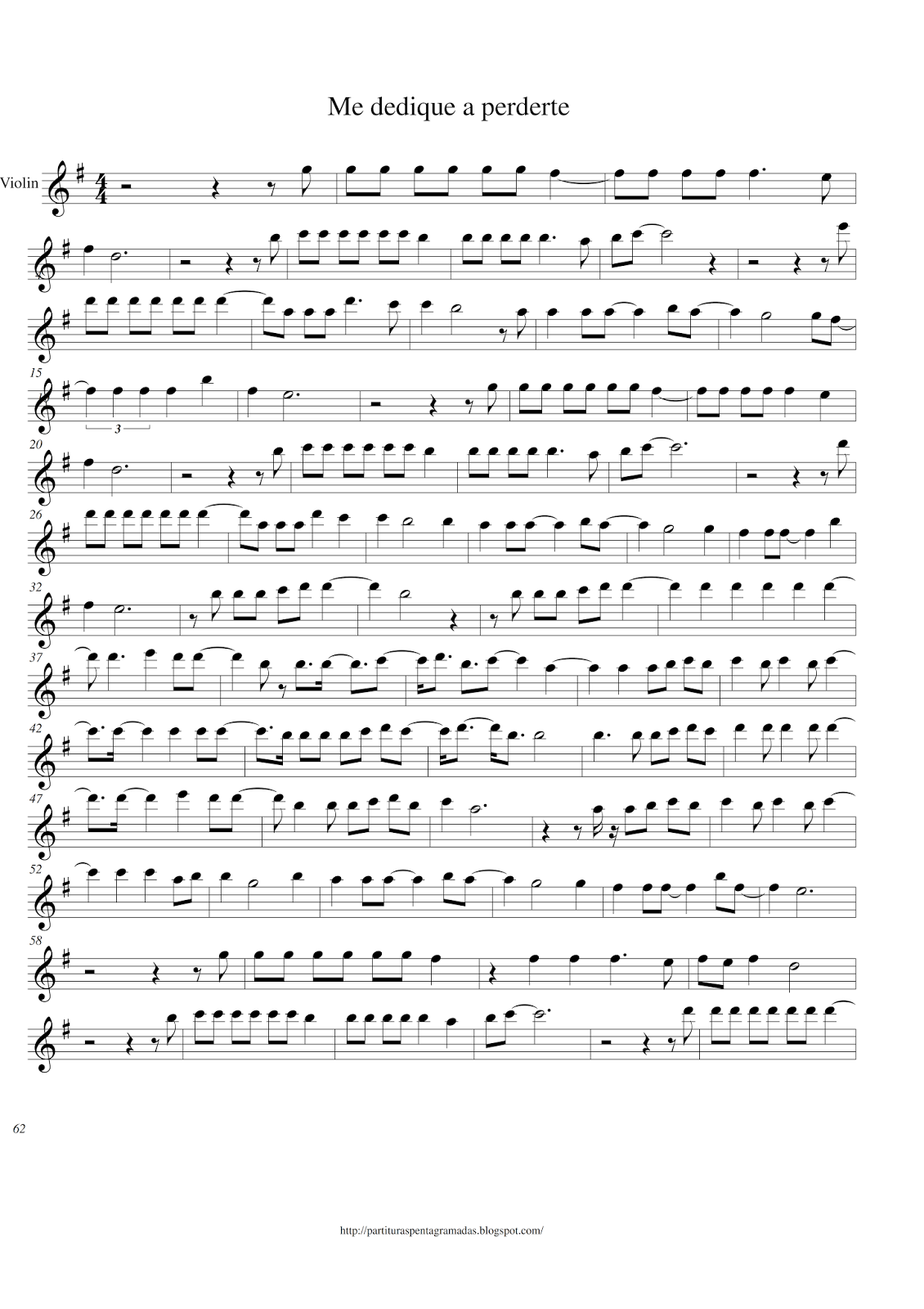 Partituras Pentagramadas Partitura Me Dedique A Perderte Alejandro Fernández Partituras Violines Alejandro Fernandez