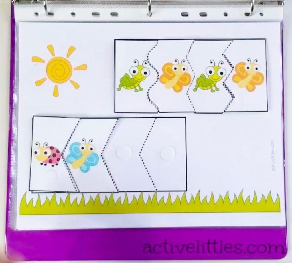 Bugs Interactive Activity Learning Binder For Preschoolers