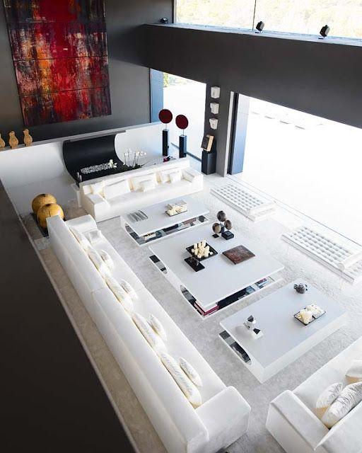 Ideas para salas muy grandes y amplios espacios de living y ...