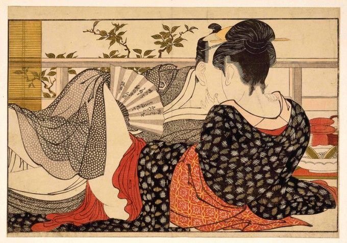 Utamakura, xilografía de Kitagawa Utamaro fechada en 1788. Décima imagen de una serie de 12.