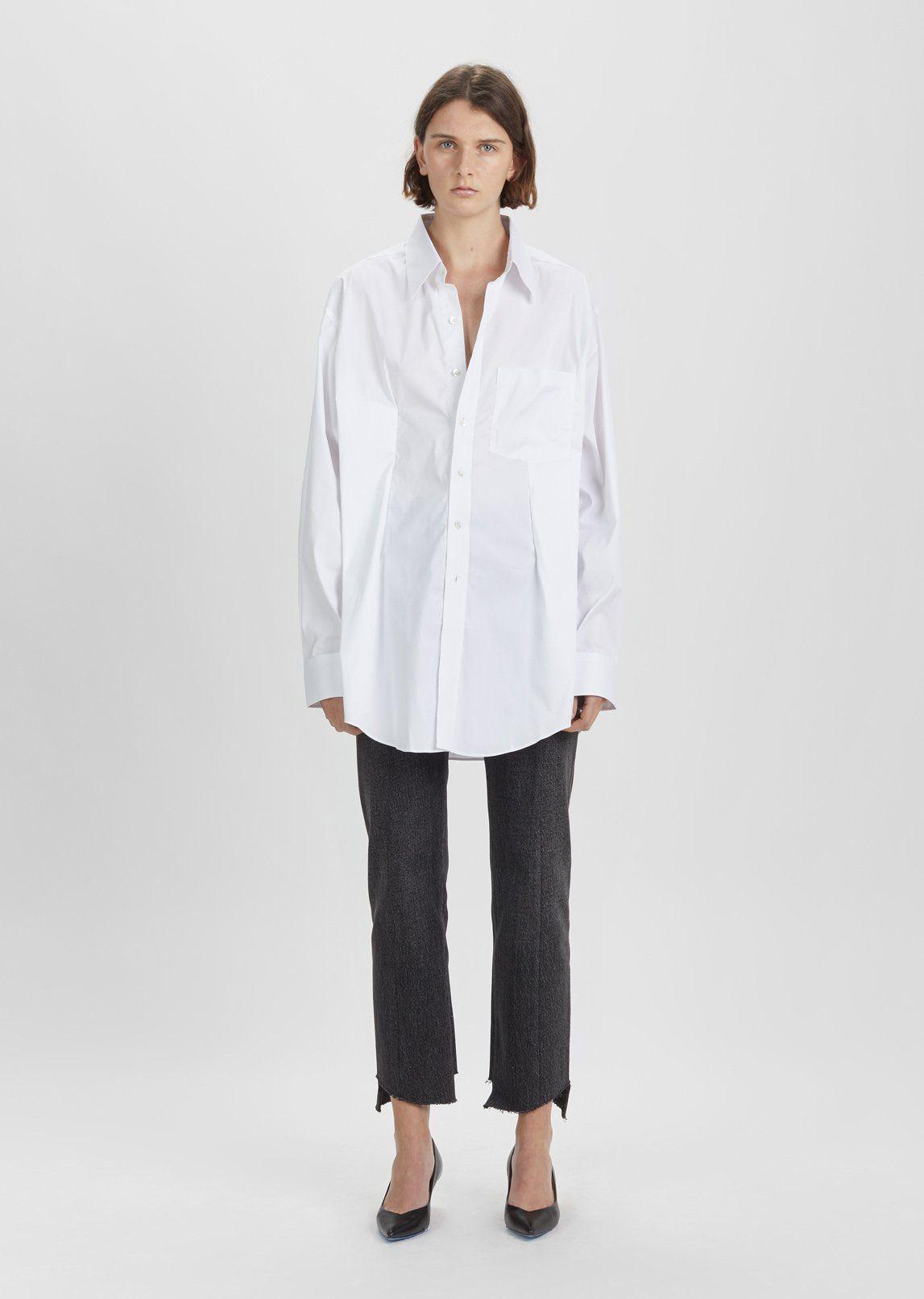 White Secretary Decollage Shirt VETEMENTS Cheap Sale Official Sale Best Sale Sale Countdown Package Outlet Hot Sale Cheap Sneakernews rJqcyE