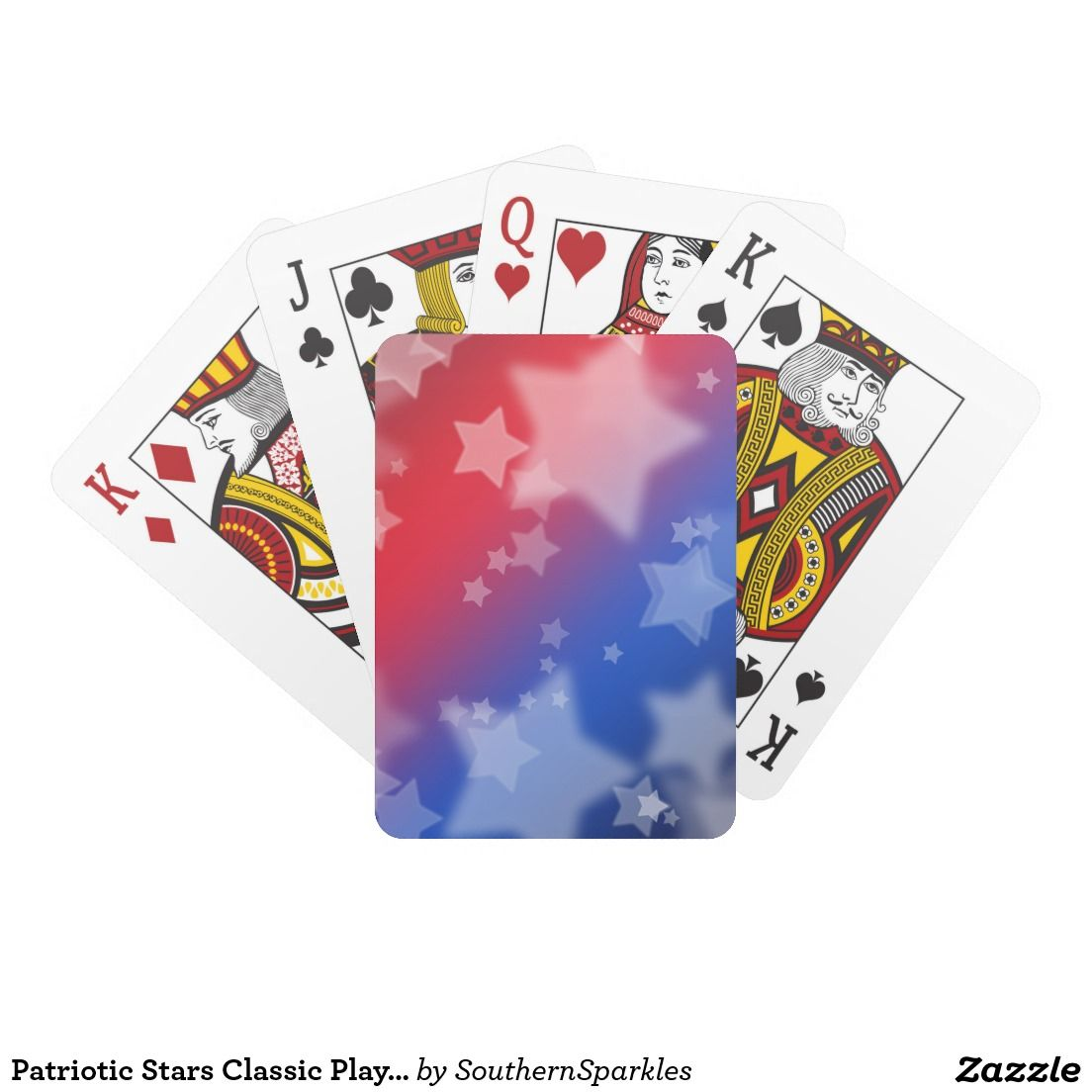 Patriotic Stars Classic Playing Cards Zazzle Com Cards