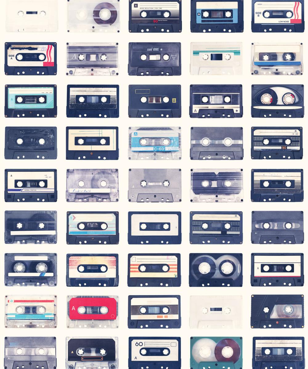 Mixed Tapes Wallpaper • Funky Retro Wallpaper • Milton & King