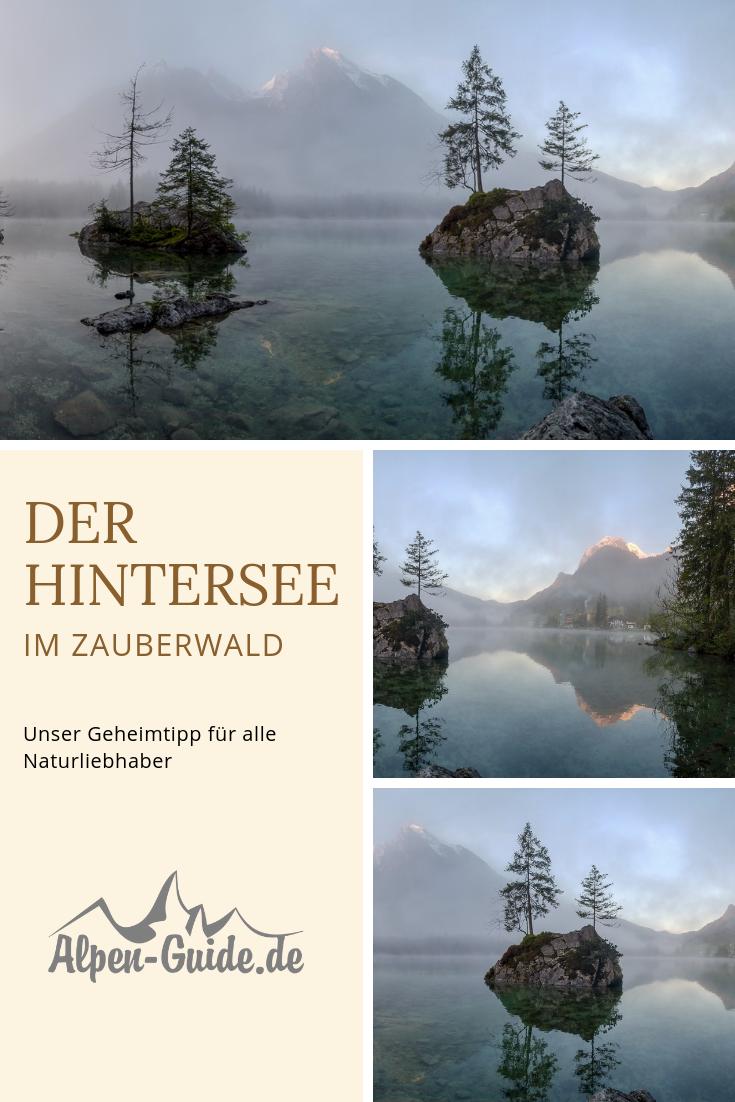 Un famoso motivo fotográfico. El Hintersee, está a unos 2 km al oeste de Ramsau, …