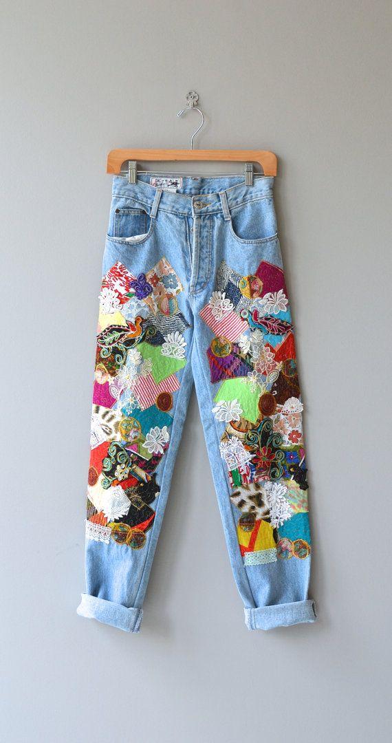 Amazing Iron on Embroidered Patch VINTAGE//blogger//À faire soi-même//90s Veste en jean Accessoire