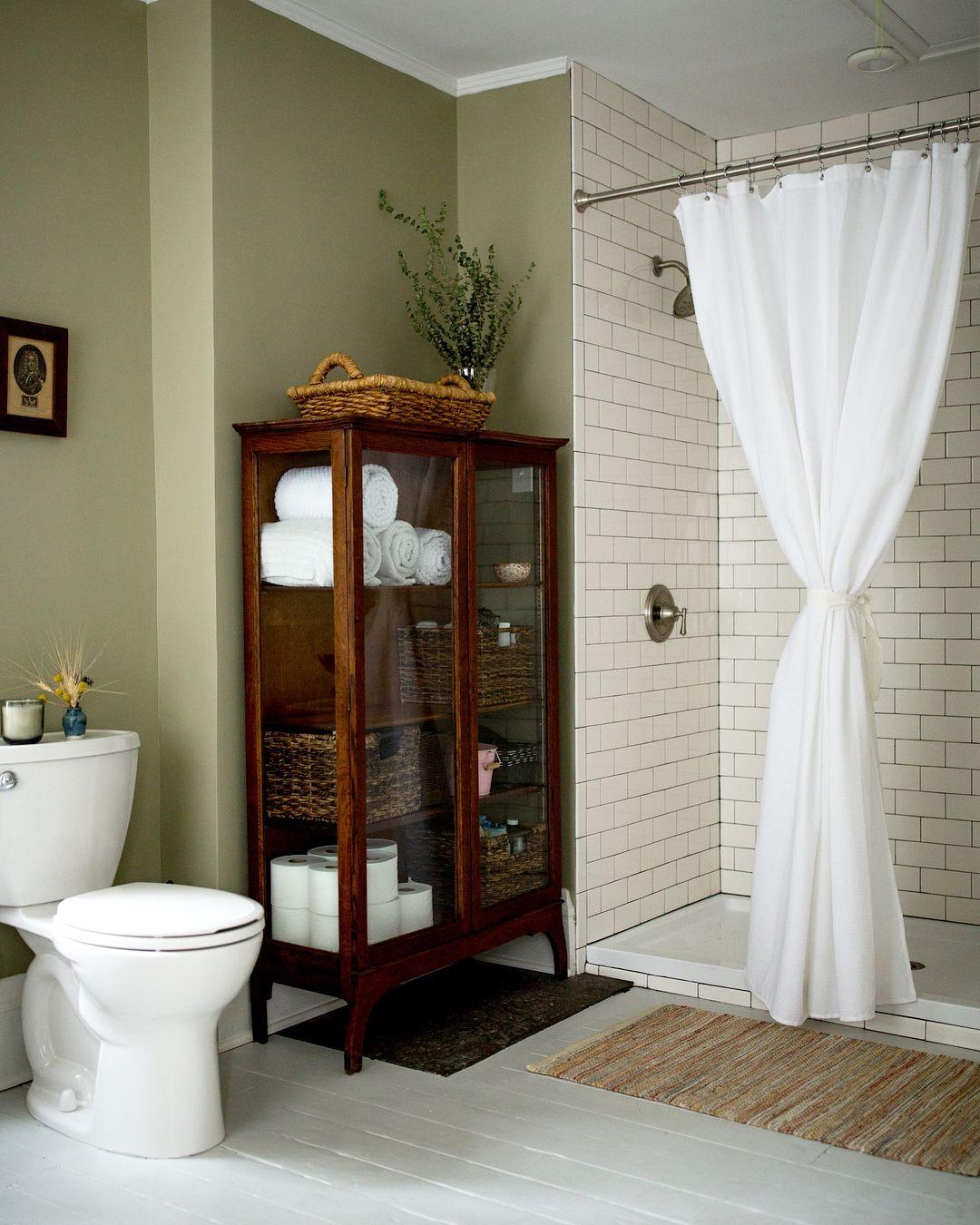 Bathroom Antique Curio Cabinet