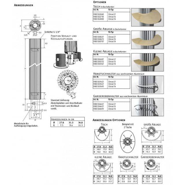 Bad Design Heizung design heizkörper freistehend 180 x ab 27 cm ab 1602 w bad design