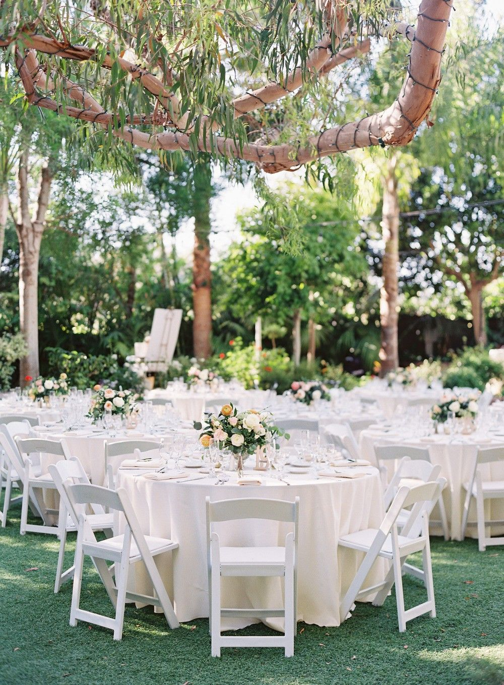 Lush Garden Wedding With Pink And Peach Botanicals Sunken Garden