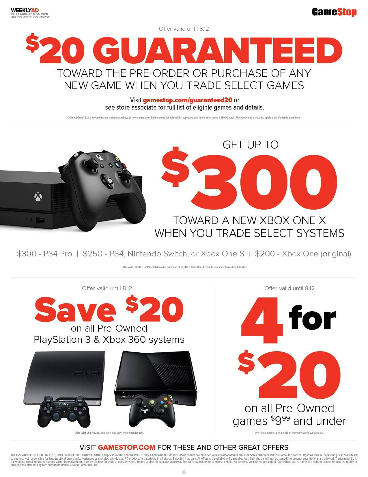 xbox one x gamestop trade in deal
