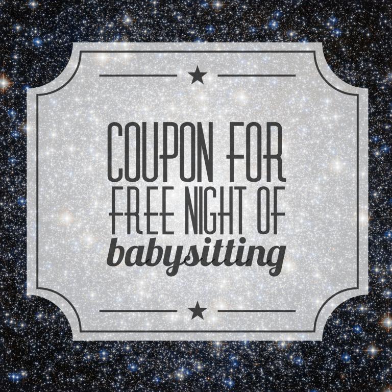 Free babysitting coupon cute ideas pinterest babysitting free babysitting coupon yadclub Image collections