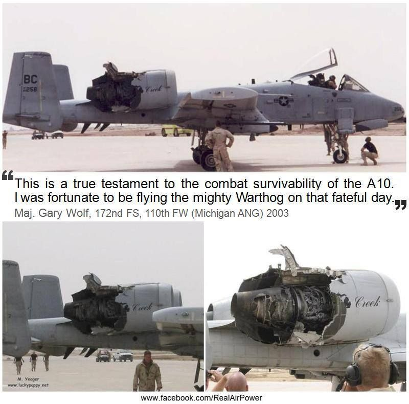 Nothing can bring down a #USAF #A-10 #Warthog. Again from ...