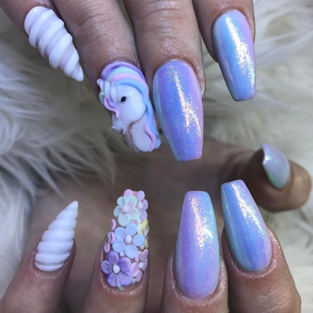Can't get enough of these Unicorn Nails. - Can't Get Enough Of These Unicorn Nails. Beauty From Brit + Co