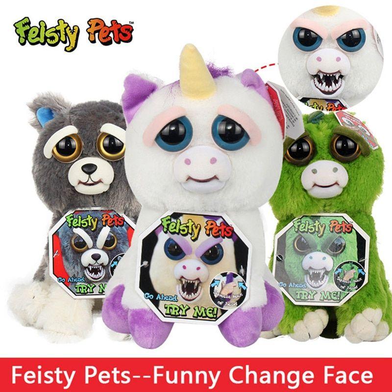 Feisty Pets Soft Toys For Children Plush Stuff Animals Anime Rabbits Bear Panda Dog Unicornio Unicorn Panda Dog Plush Animals Dinosaur Stuffed Animal
