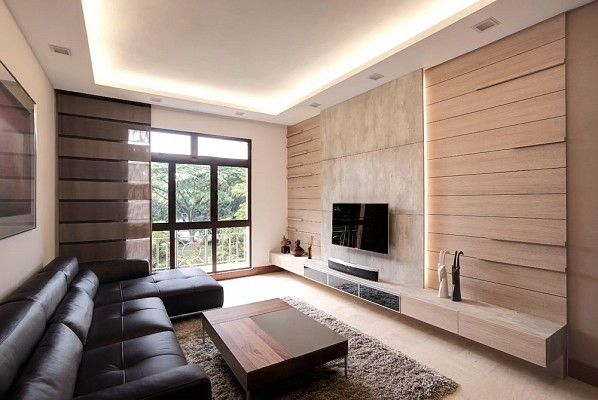 Classy modern condominium living area design by idees for Idee interior design
