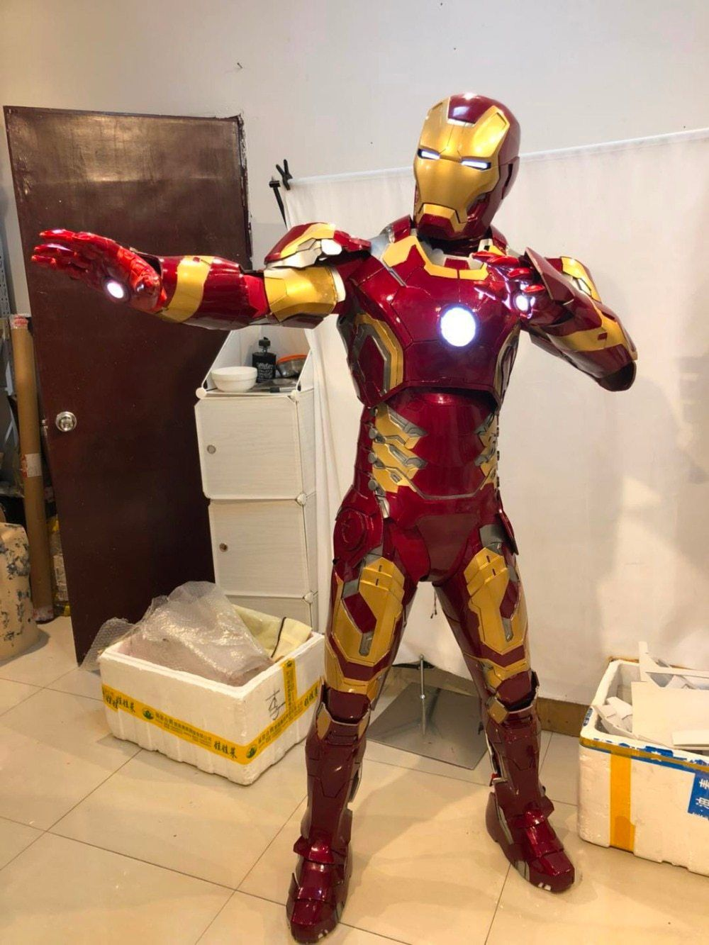 Custom Iron Man tote Avengers costume Super hero bag Halloween Trick or Treat Bag Iron Man shoulder bag Iron Man Costume Marvel heros