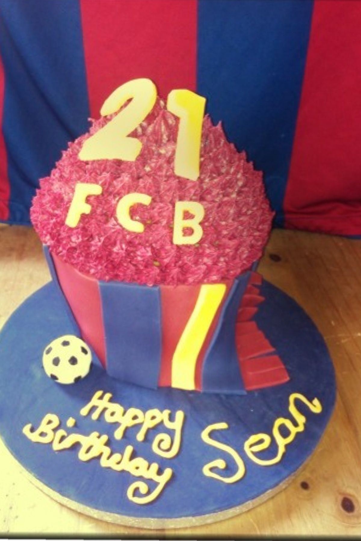 21st birthday Barcelona football cake