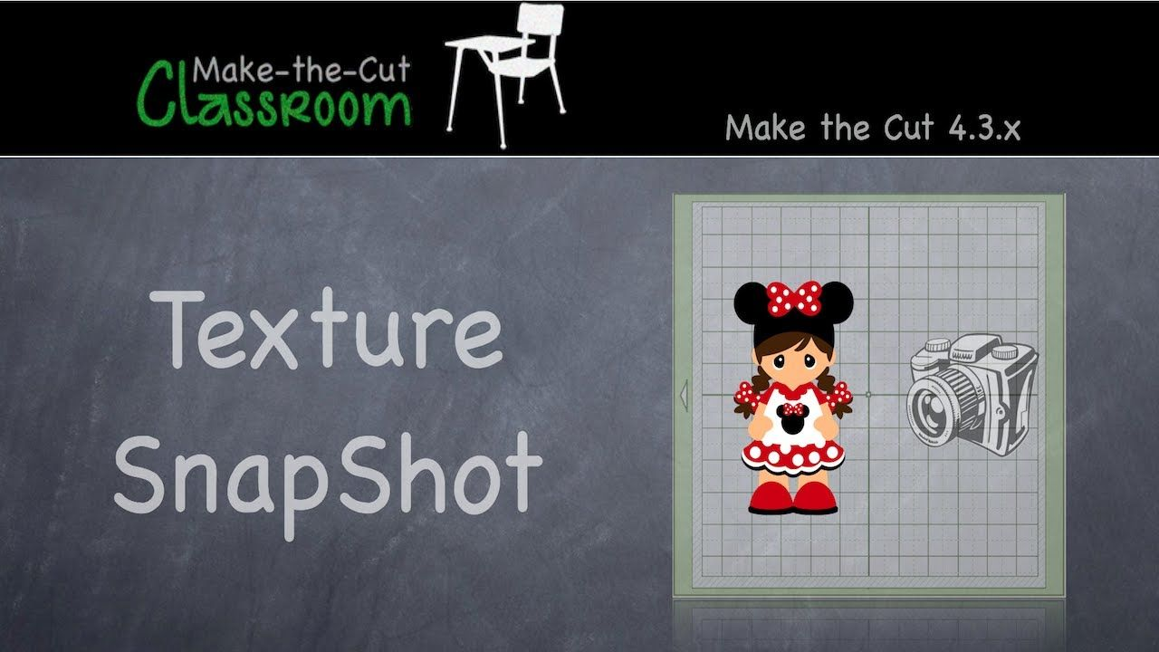 Creating Textures with Texture Snapshot - Make the Cut Software