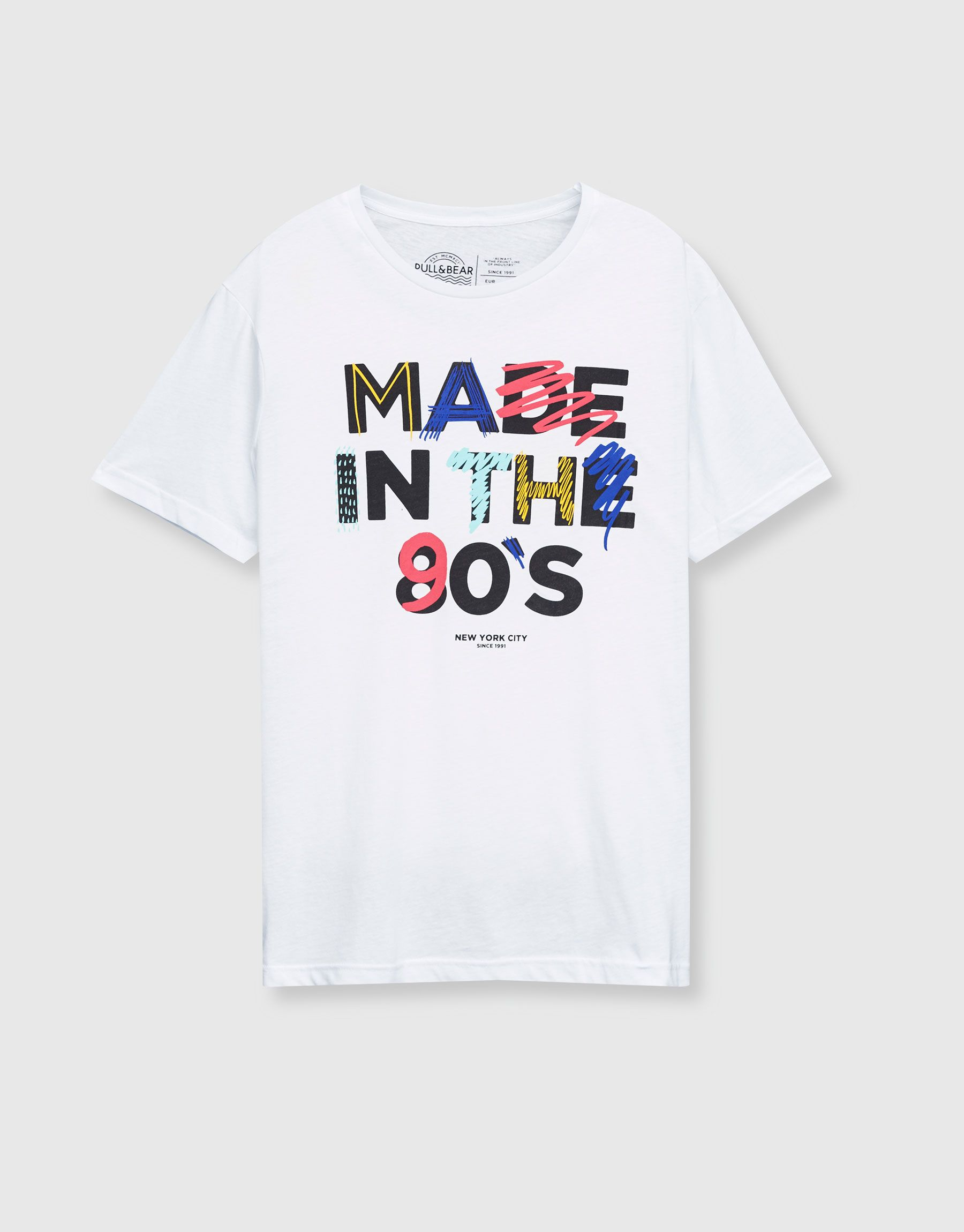 7ab1c002447cb Camiseta print texto 90s - Camisetas - Ropa - Hombre - PULL BEAR España