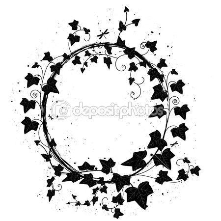 ivy illustration ivy wreath tattoo pinterest illustrations
