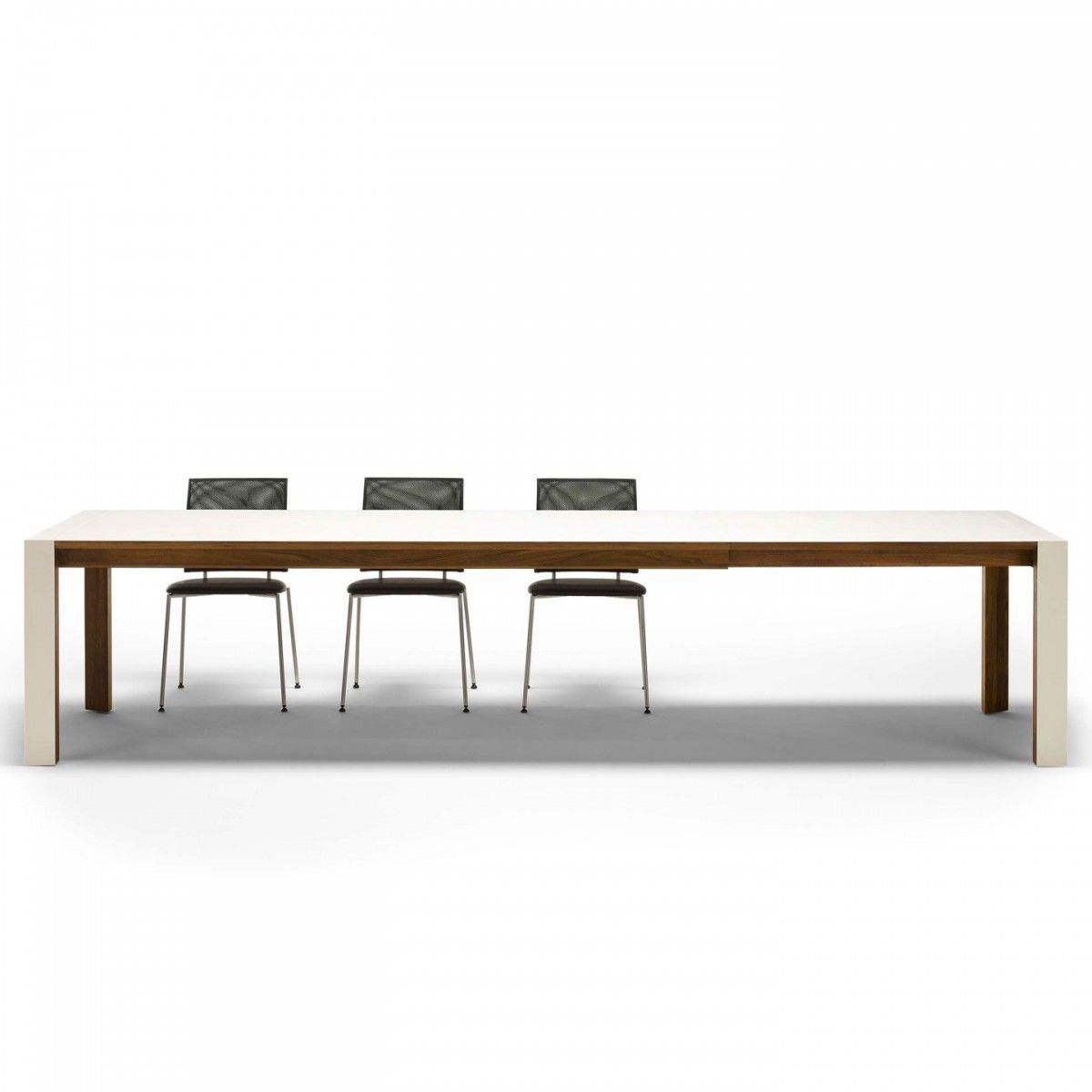 corian and walnut extending dining table naver