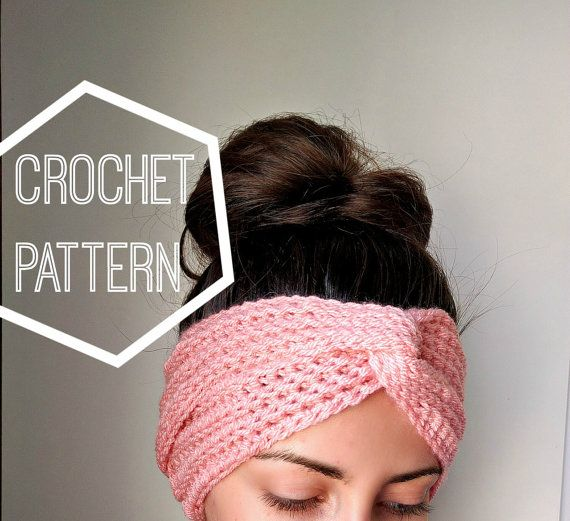Boho Crochet Turban Ear Warmer Pattern Women\'s Crochet por MYandGG ...