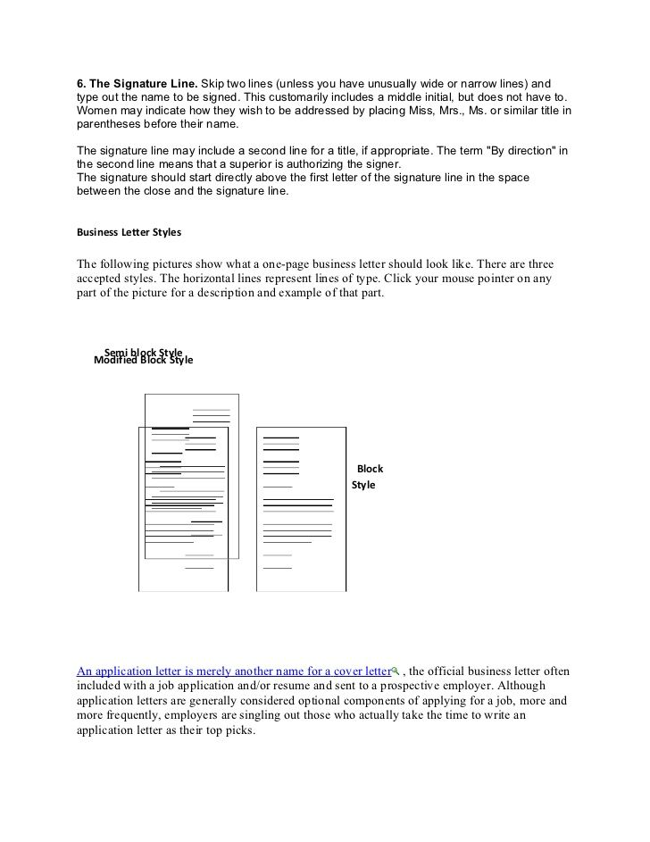 Formal And Informal Letter Business Format With Multiple