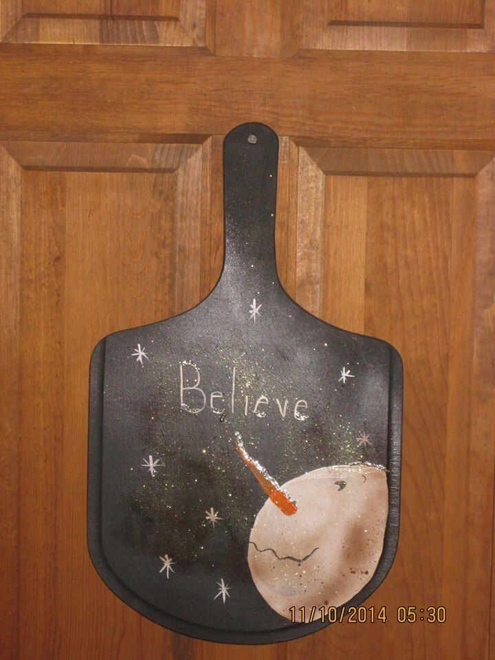 "Primitive ""Believe"" Wooden Paddle by CranberryCornstalk on Etsy https://www.etsy.com/listing/211060702/primitive-believe-wooden-paddle"