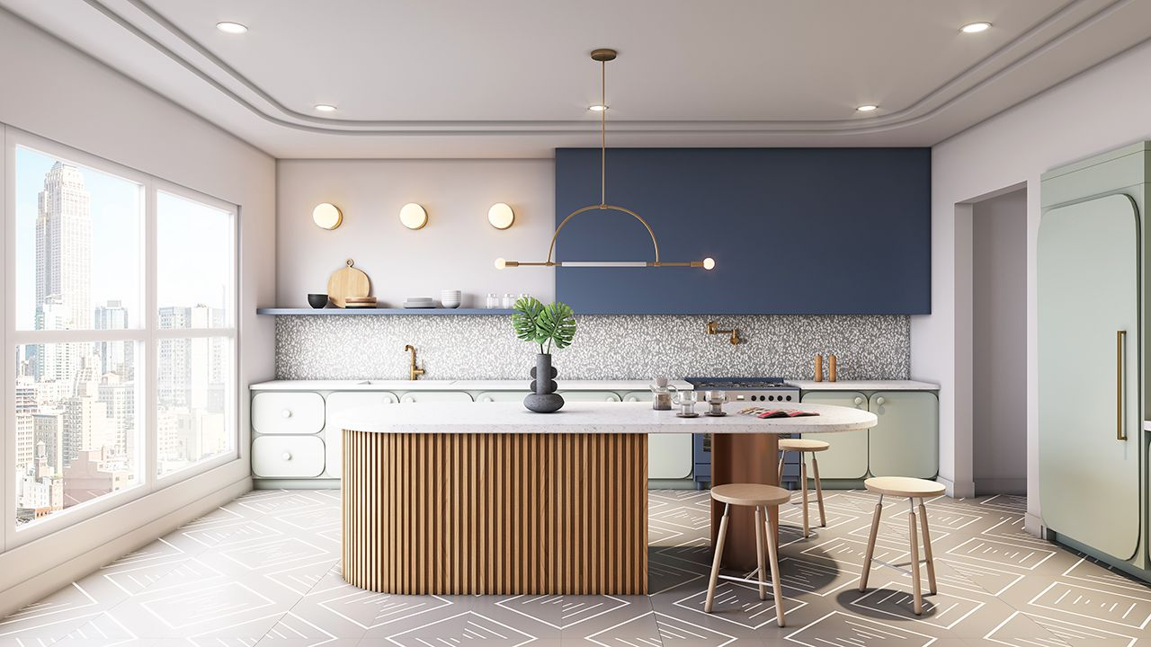 Bobby Berk teamed up with Corian® Design to explore their new product releases and design kitchens for each of his Queer Eye cast mates!