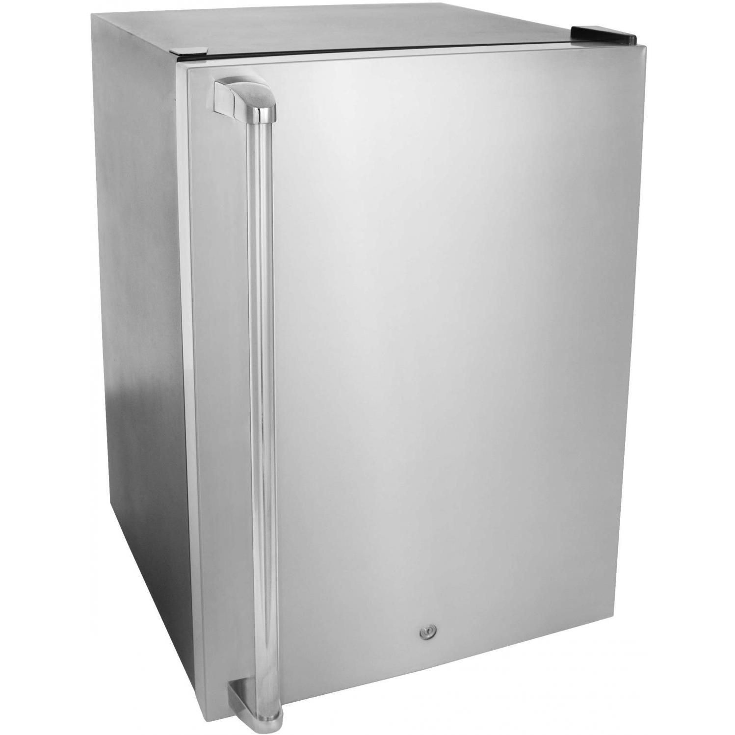 Ft Compact Refrigerator With Towel Bar Handle  Stainless Steel