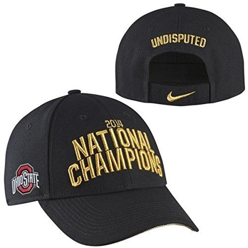 brand new 73a27 d6474 Ohio State Buckeyes Nike 2014 College Football Playoff National Champions  Locker Room Coaches Adjustable Hat - Black