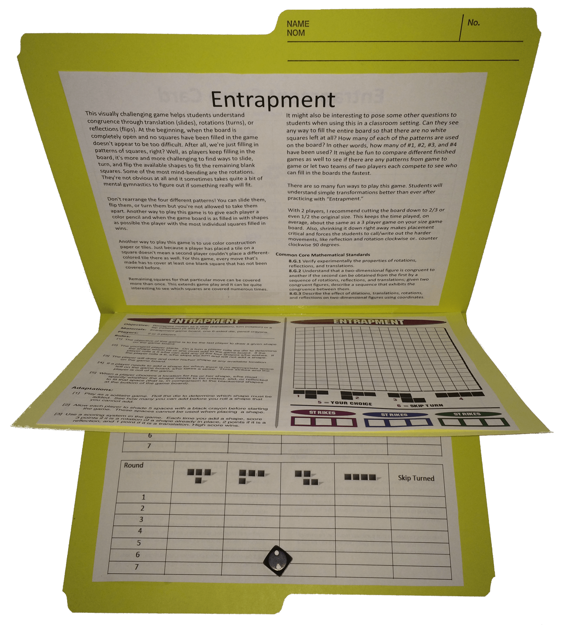Entrapment Transformation Math Games