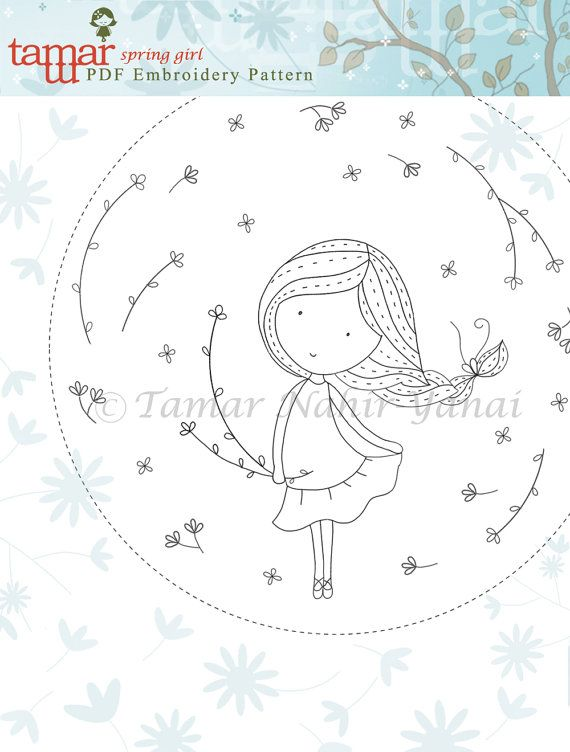 Digital design, Embroidery pattern, Printable art nursery - Spring ...