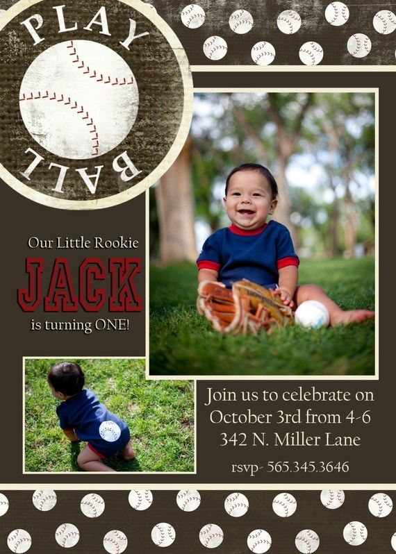 Jack Custom Baseball Birthday Invitation By Andreagerigdesigns 1600 Invitations Sports Theme